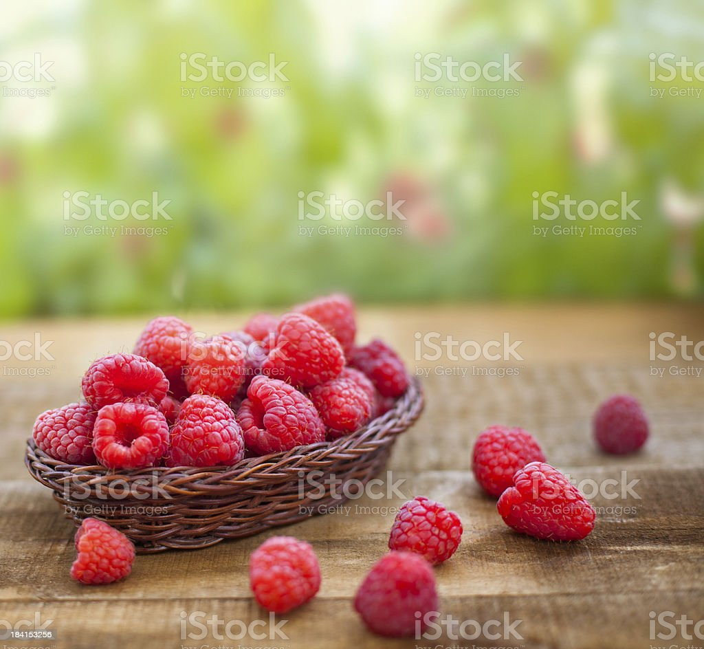 Fresh raspberries stock photo