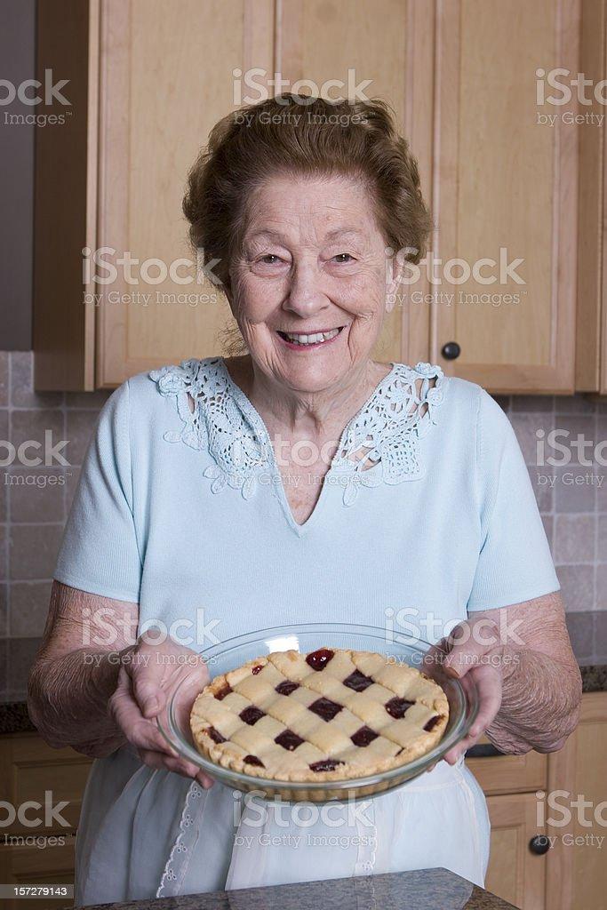 Fresh raspberry pie royalty-free stock photo