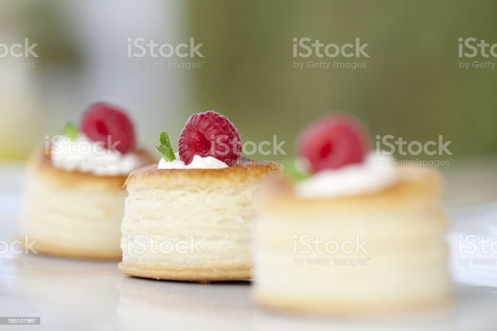 Fresh raspberry tarts royalty-free stock photo