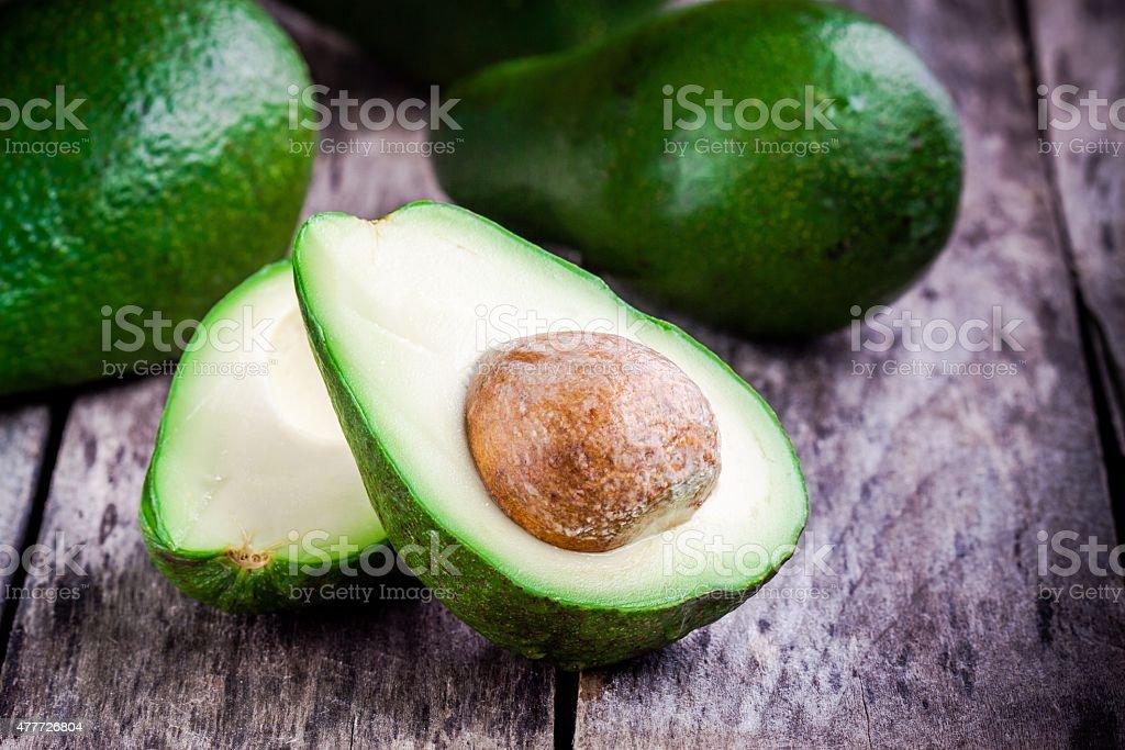 fresh raw avocado stock photo