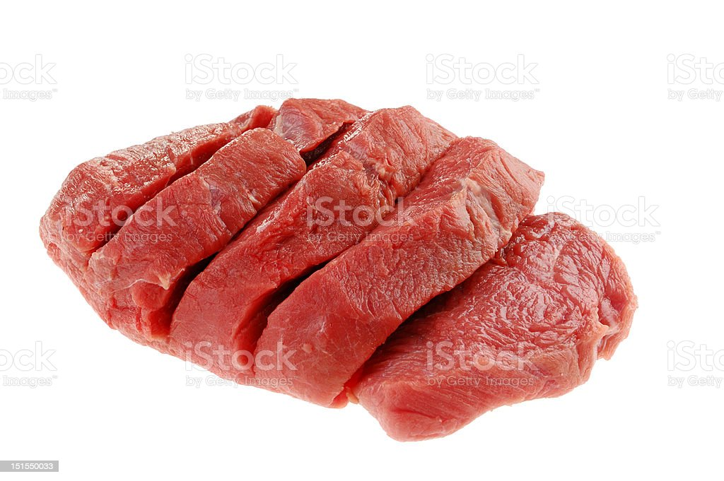 Fresh raw beef on cutting board royalty-free stock photo
