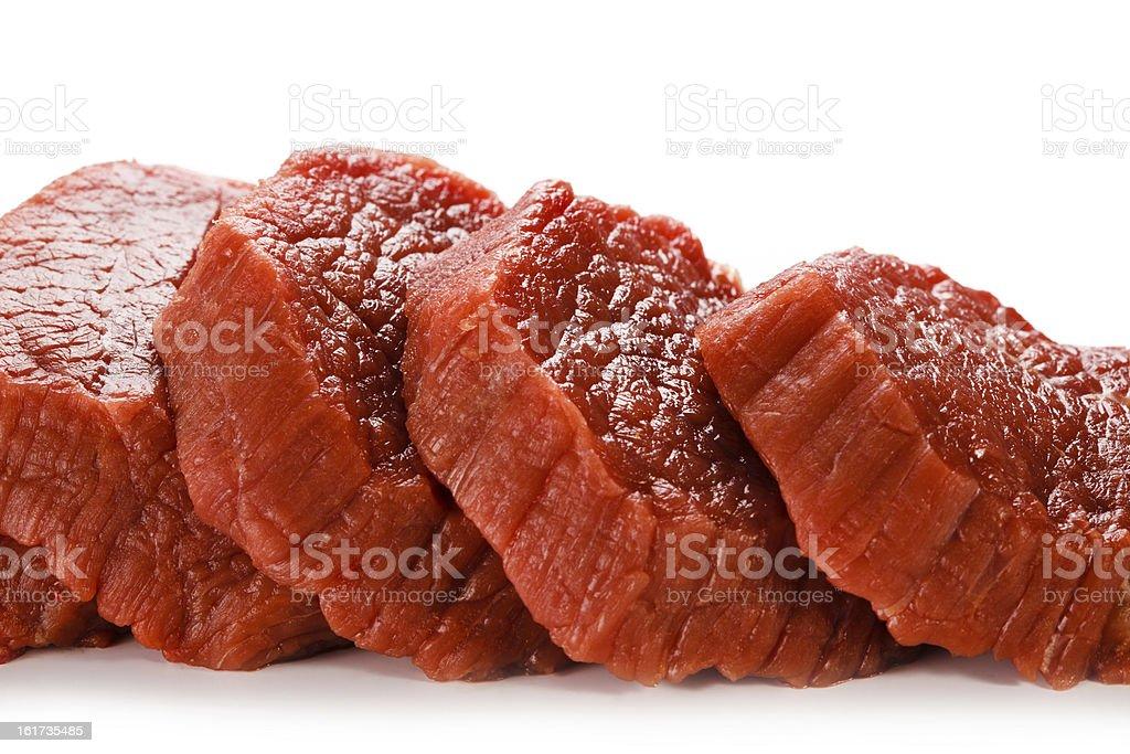 Fresh raw beef on white background royalty-free stock photo