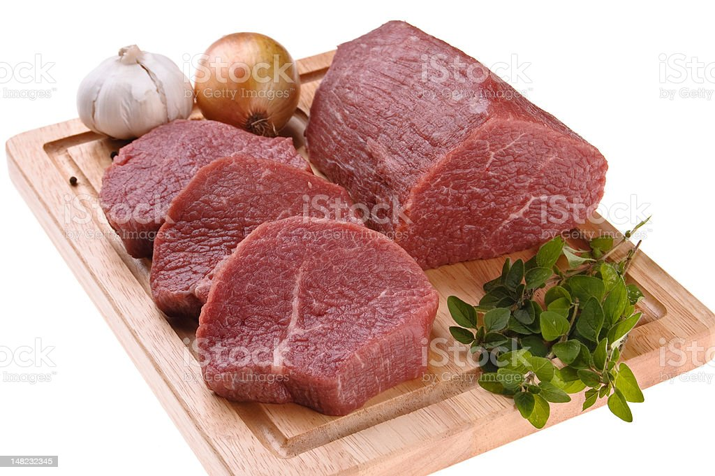 Fresh raw beef royalty-free stock photo