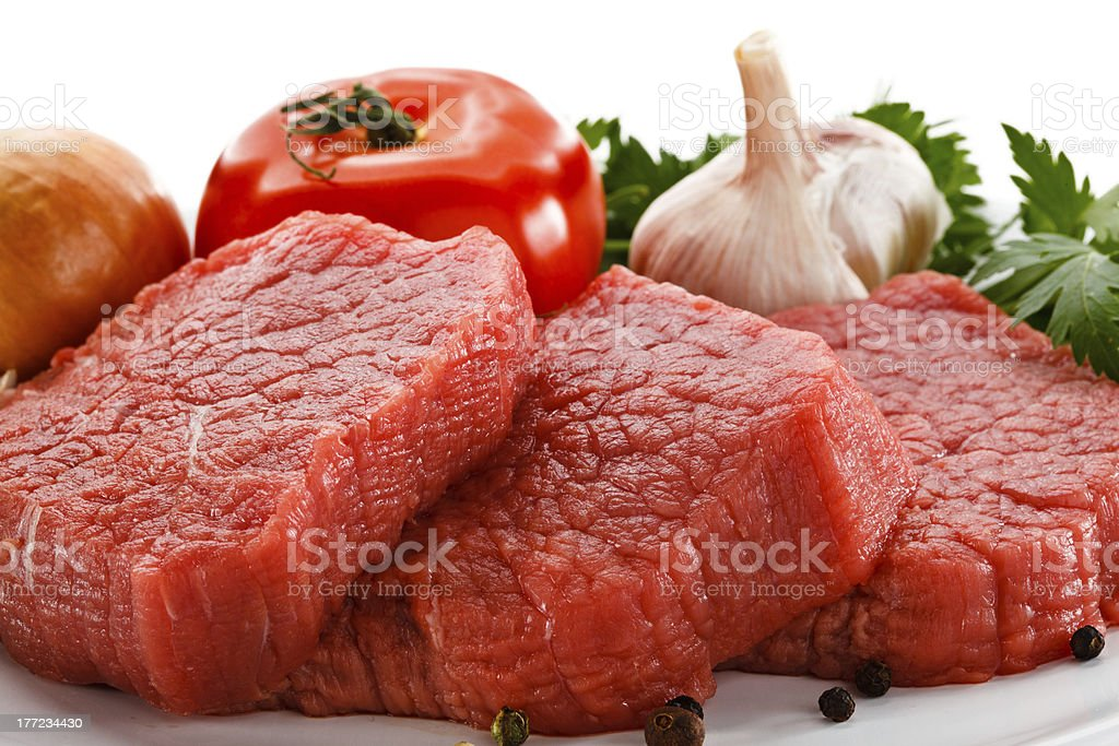 Fresh raw beef royalty-free stock photo