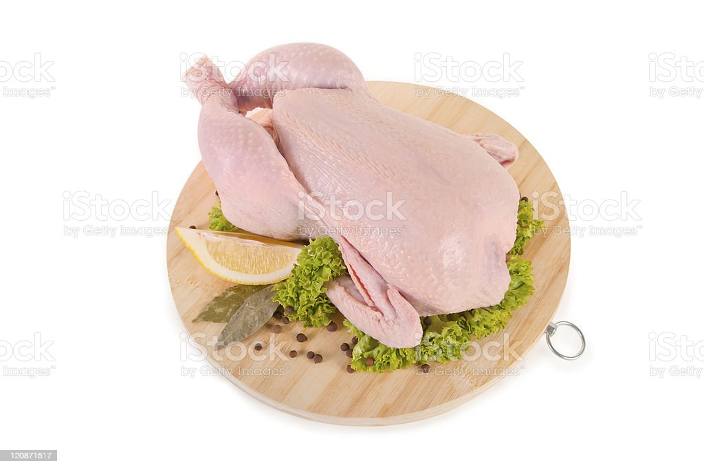 Fresh raw chicken and condiments royalty-free stock photo