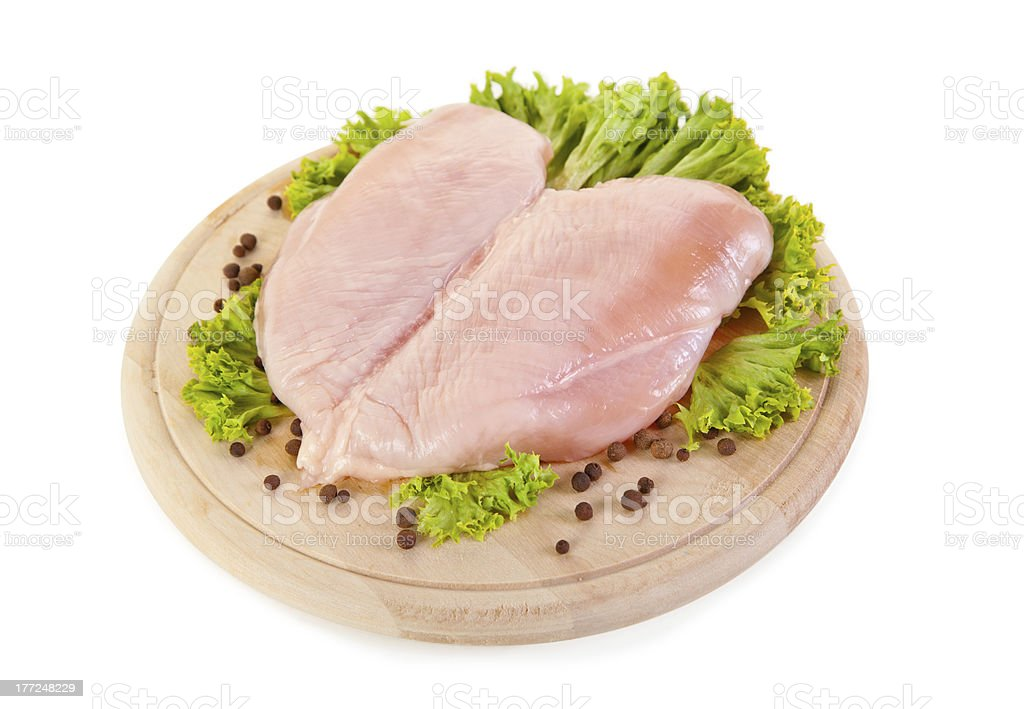 Fresh raw chicken breasts stock photo