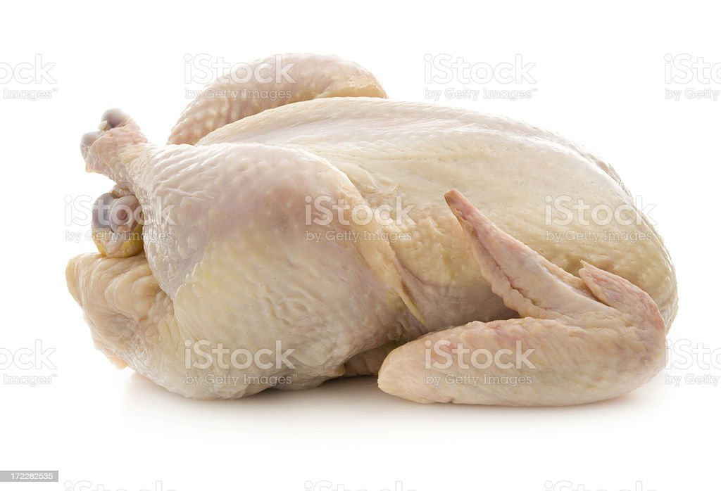Fresh Raw Chicken Isolated on White royalty-free stock photo