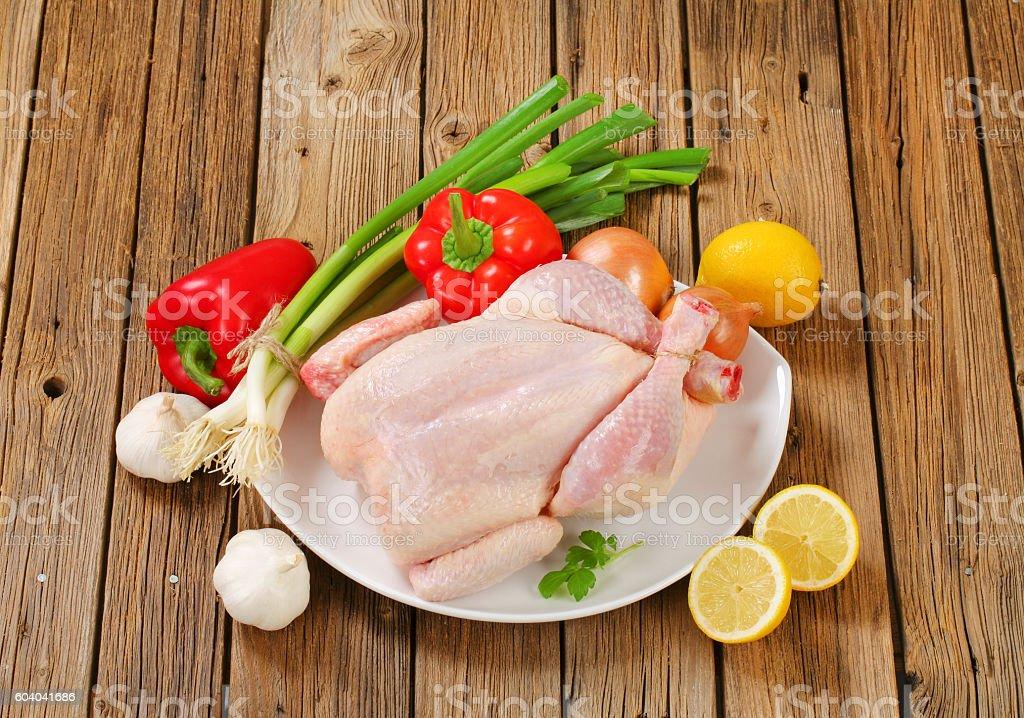 Fresh raw chicken stock photo