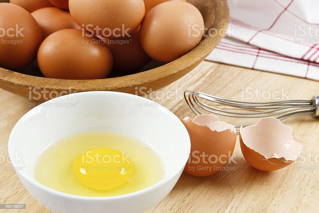 Fresh Raw Eggs royalty-free stock photo