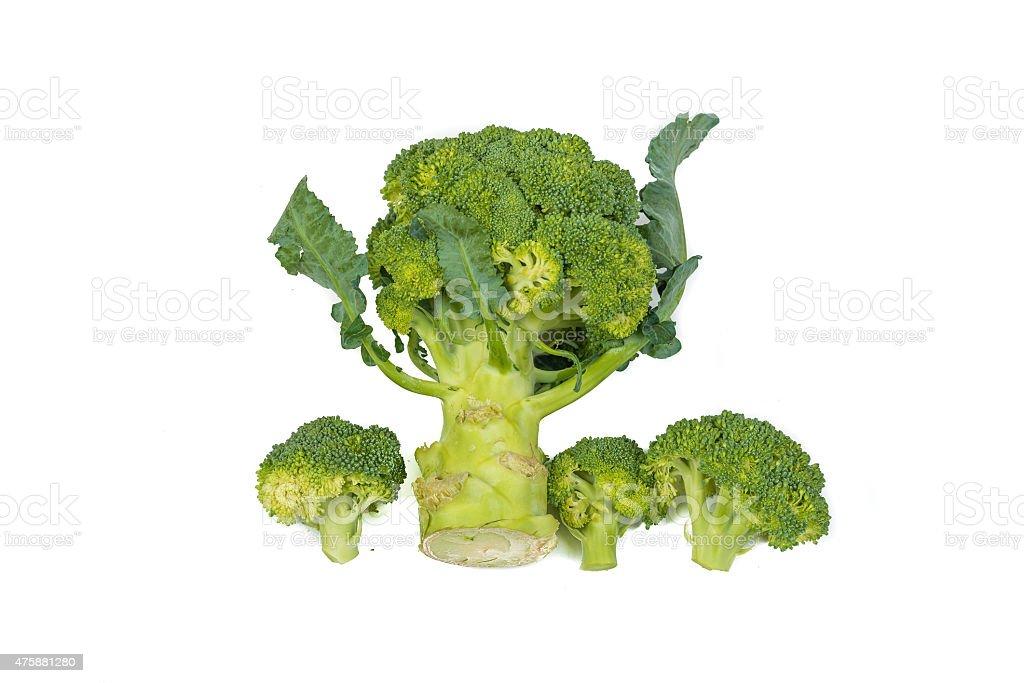 Fresh, Raw, Green Broccoli Pieces. stock photo