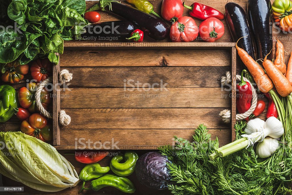 Fresh raw ingredients for healthy cooking or salad making with royalty-free stock photo