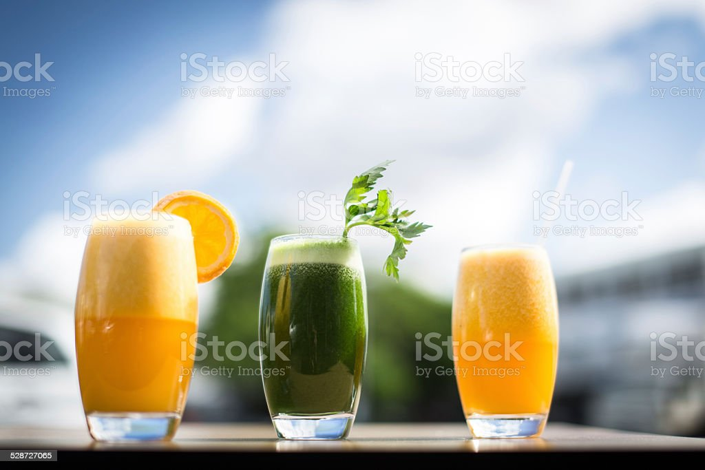 Fresh Raw Juices stock photo