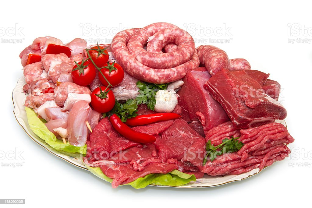 Fresh Raw Meat royalty-free stock photo