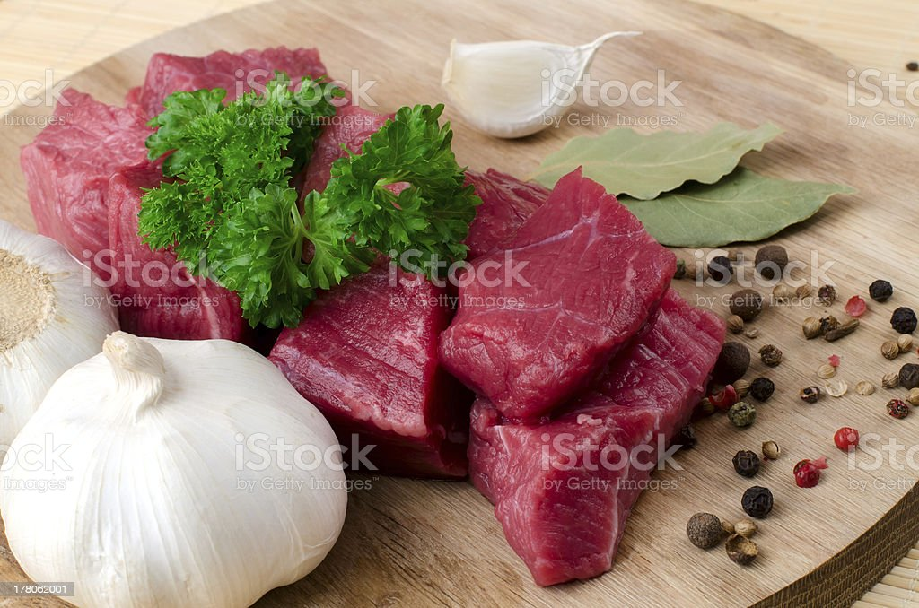 Fresh raw meat. royalty-free stock photo
