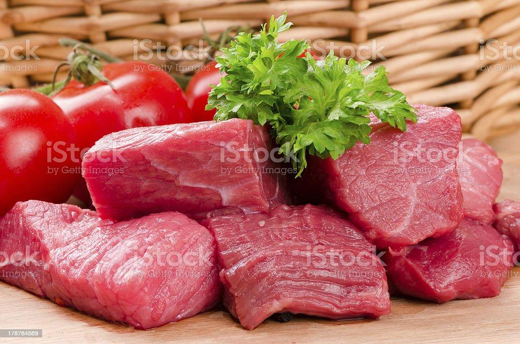 fresh raw meat. royalty-free stock photo