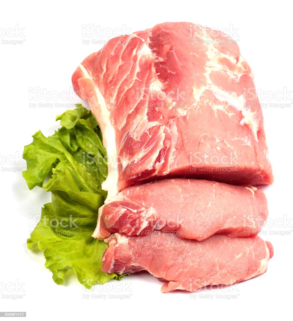 Fresh raw pork stock photo