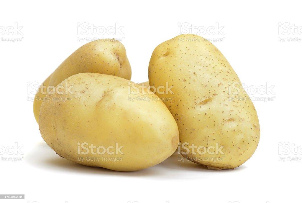 fresh raw potato royalty-free stock photo