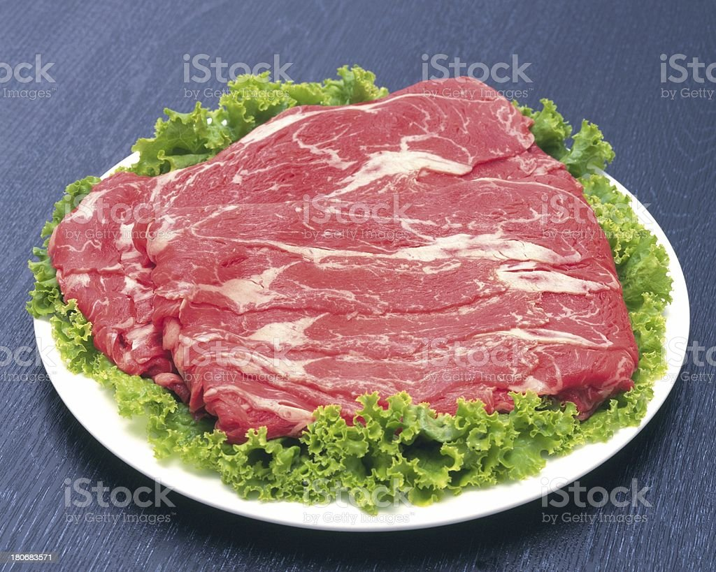 fresh raw red meat royalty-free stock photo