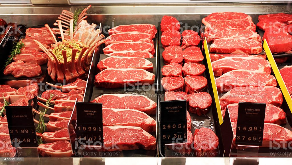 Fresh raw red meat stock photo