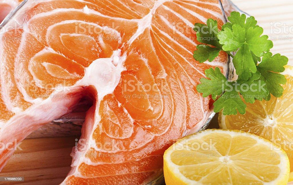 Fresh raw Salmon royalty-free stock photo