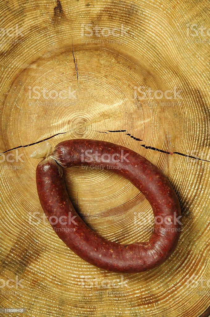 Fresh Raw Sausages royalty-free stock photo