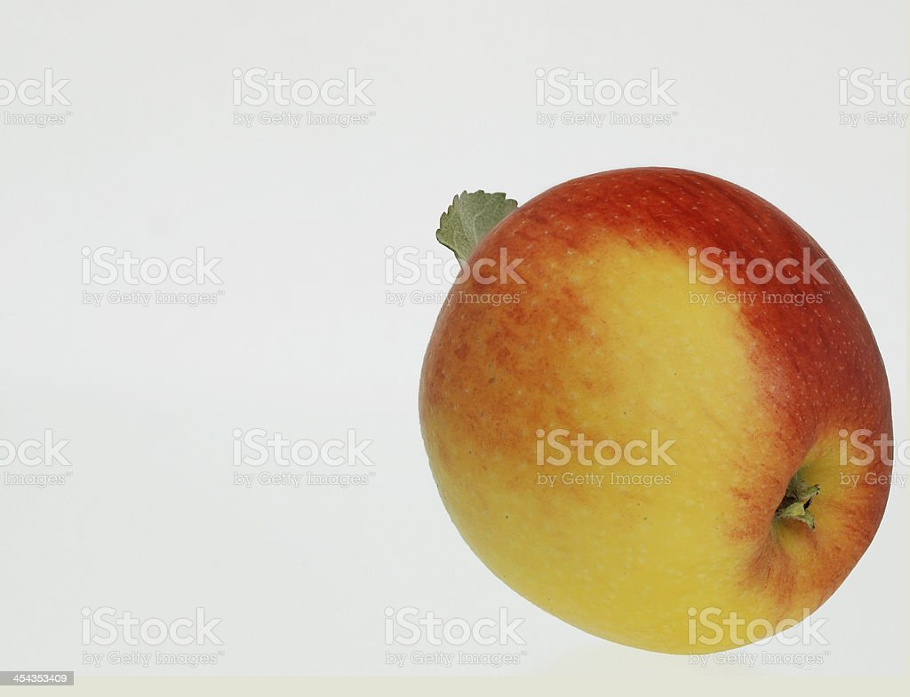 Fresh red and yellow apple Cut stock photo