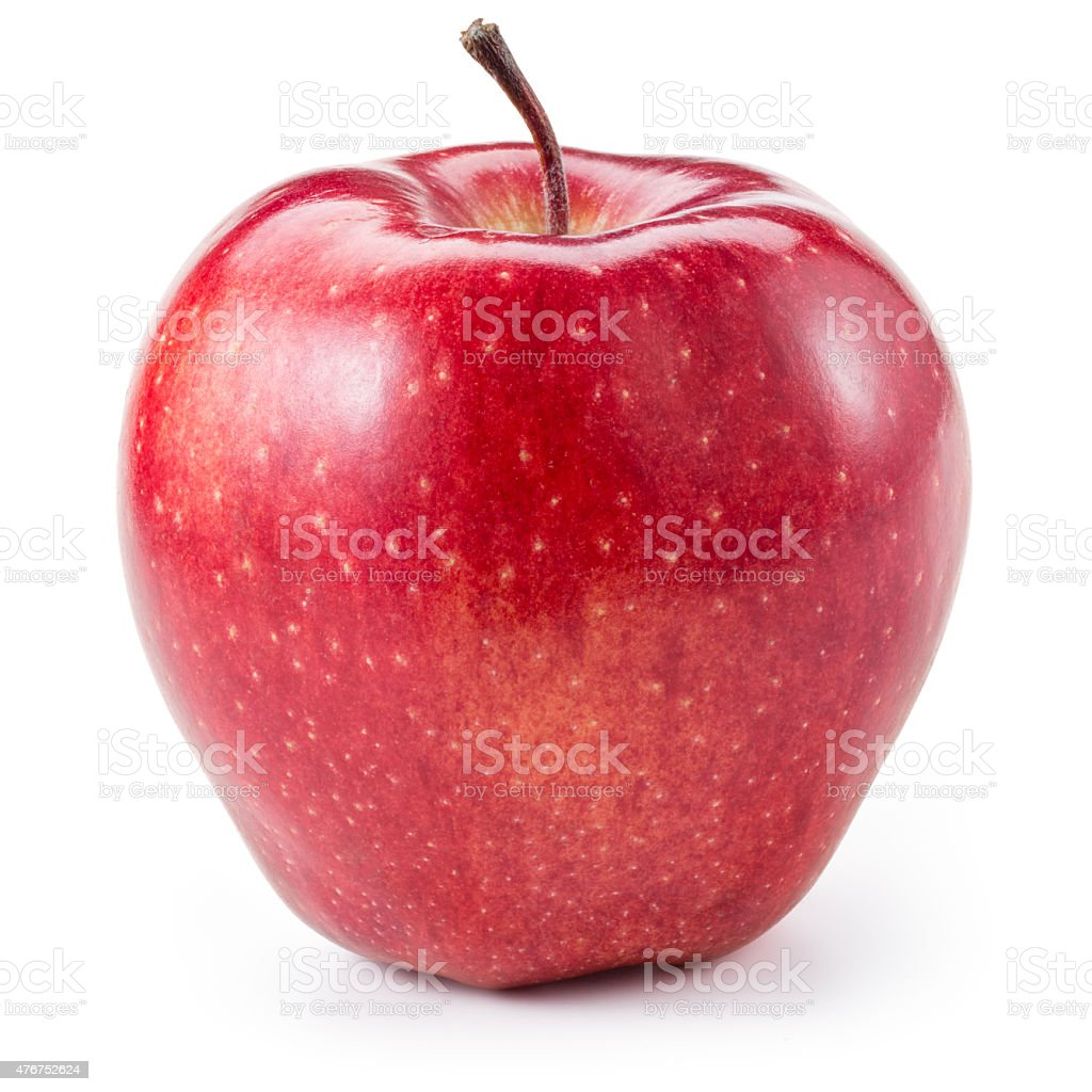 Fresh red apple isolated on white. With clipping path stock photo
