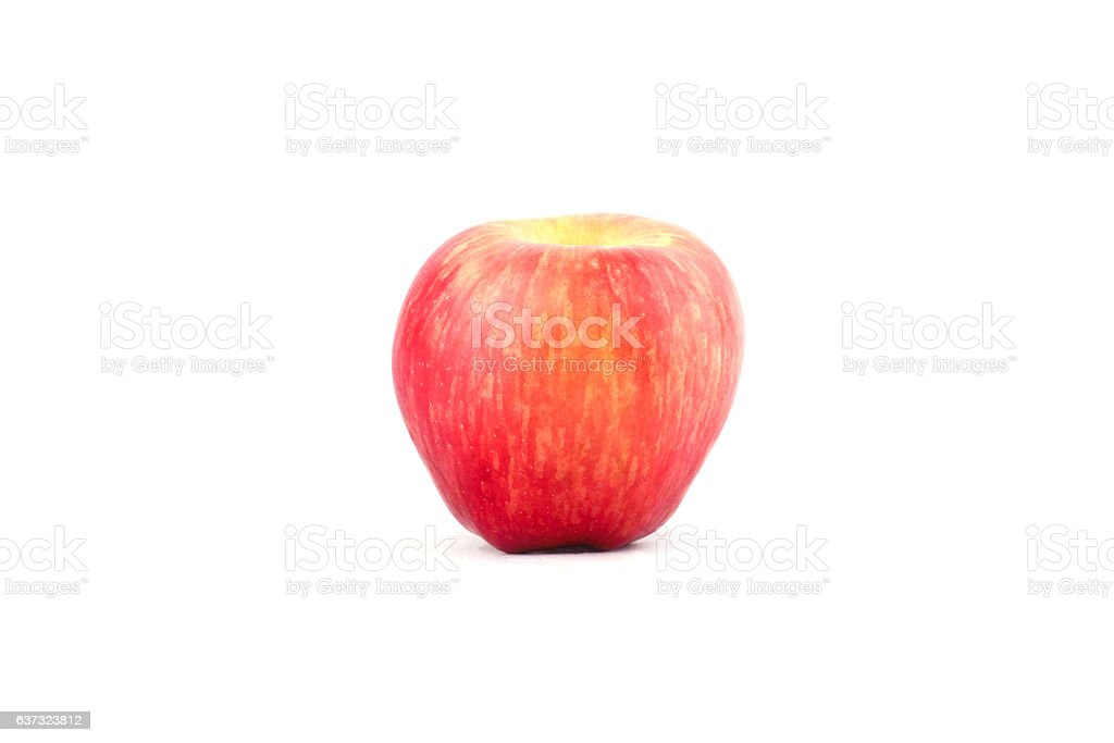 fresh red apple on white background healthy apple fruit food stock photo