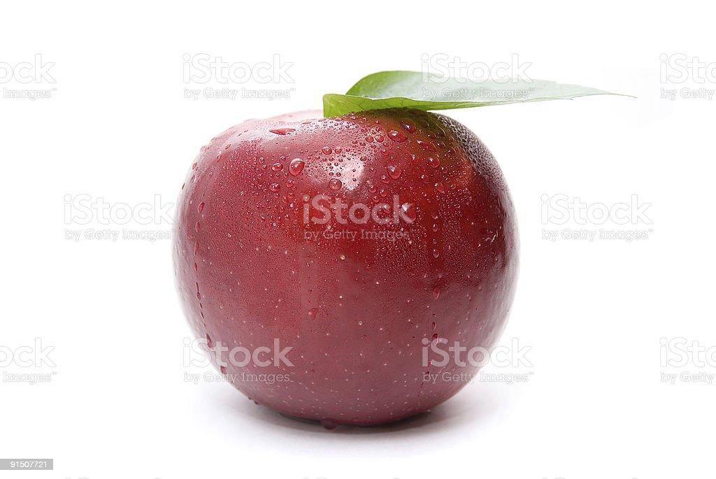 FRAIS pomme rouge photo libre de droits