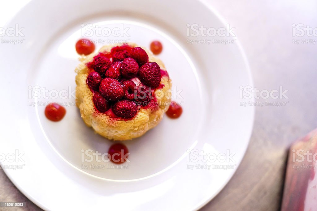 Fresh red berry tart royalty-free stock photo
