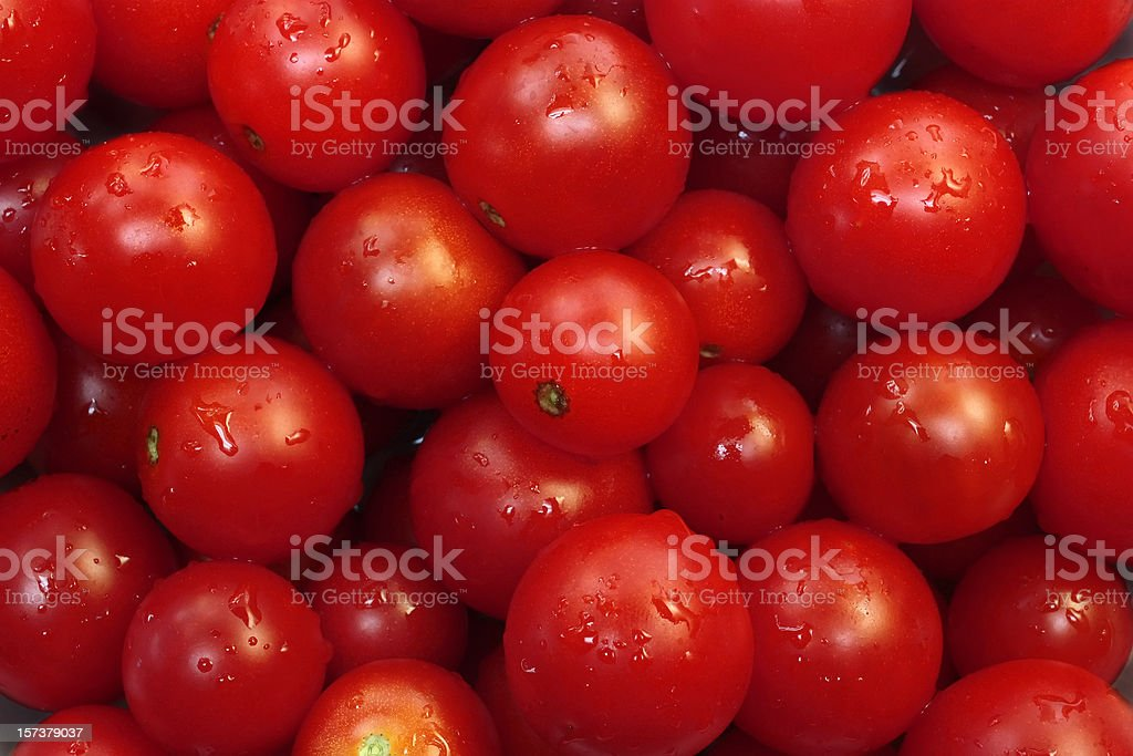 Fresh red Cherry Tomato Wallpaper Background royalty-free stock photo