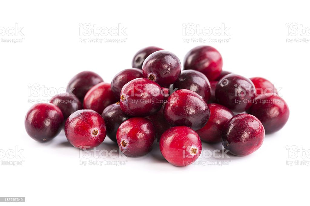 fresh red cranberries stock photo