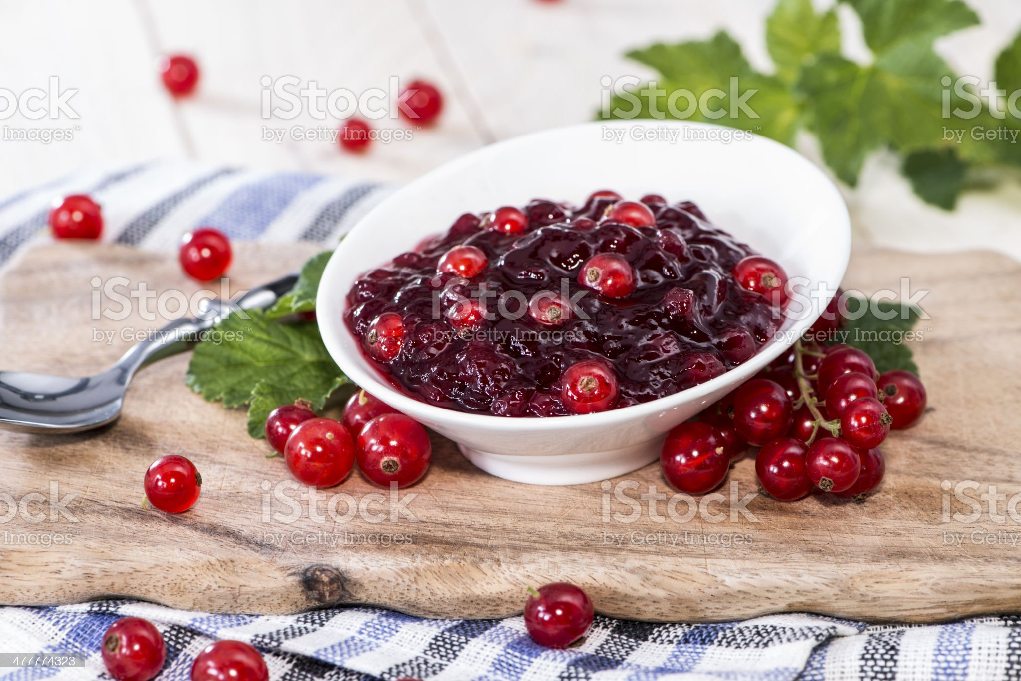 Fresh Red Currant Jam royalty-free stock photo