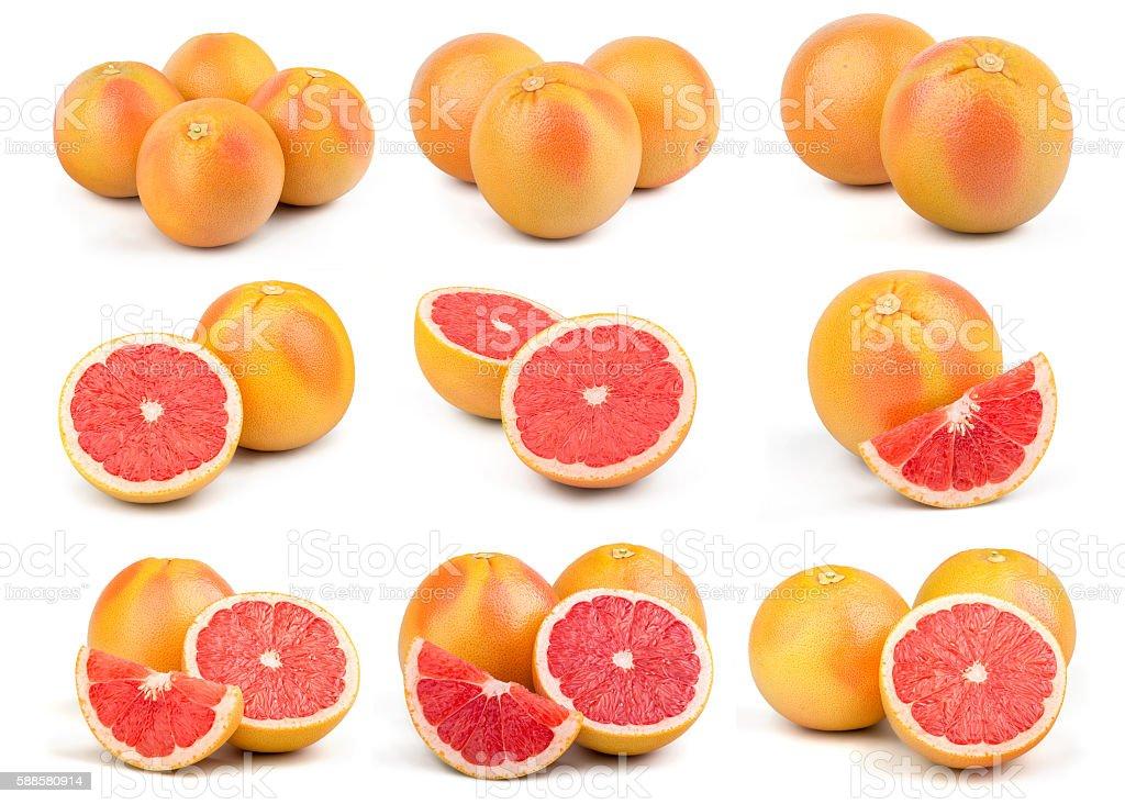 Fresh Red Grapefruit stock photo