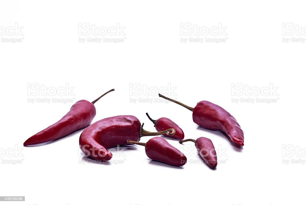 Fresh red hot chili peppers stock photo