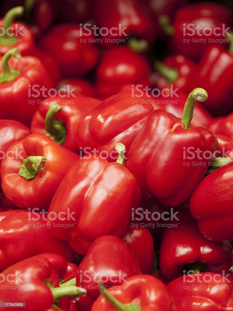 Fresh Red Peppers royalty-free stock photo