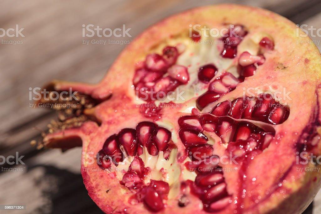 Fresh red pomegranate fruit stock photo