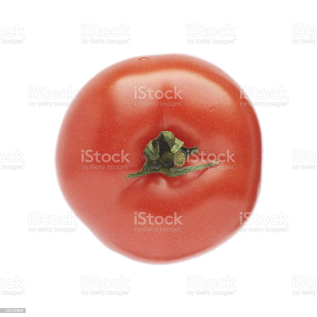 Fresh red tomato isolated on white background. royalty-free stock photo