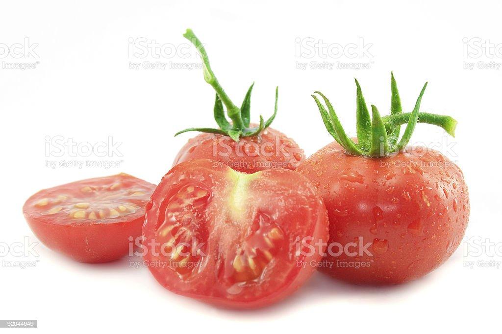 Fresh red tomato on white background royalty-free stock photo