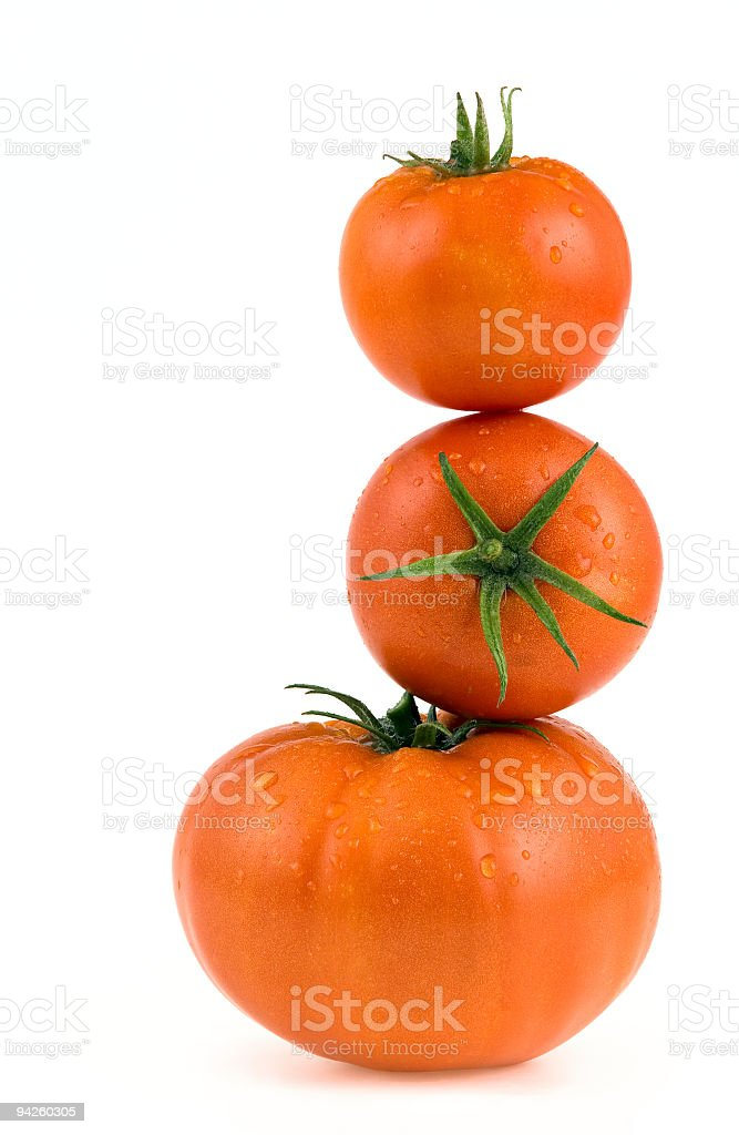 Fresh red tomatos royalty-free stock photo