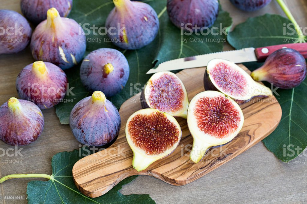 Fresh ripe figs stock photo