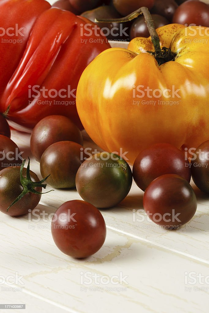 Fresh Ripe Heirloom Tomatoes royalty-free stock photo