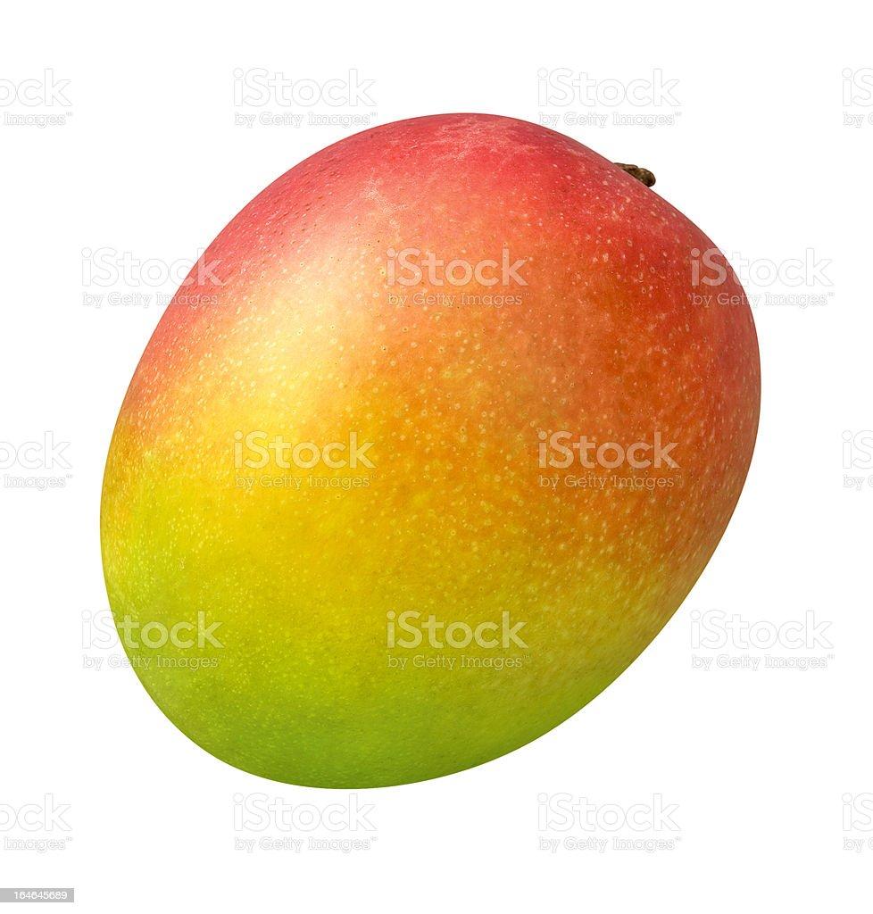 Fresh Ripe Mango isolated royalty-free stock photo