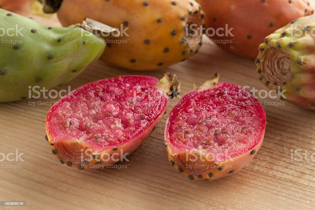 Fresh ripe Prickly Pears stock photo