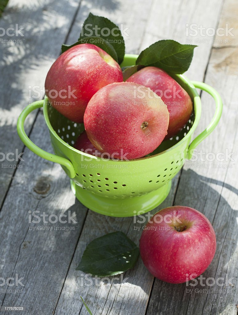 Fresh ripe red apples royalty-free stock photo