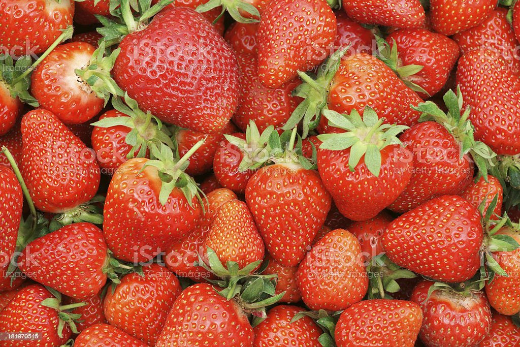 Fresh ripe strawberries as background royalty-free stock photo