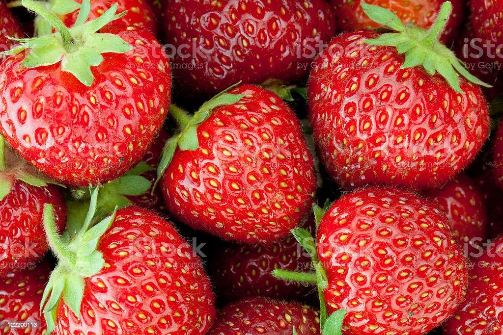 Fresh ripe strawberry royalty-free stock photo