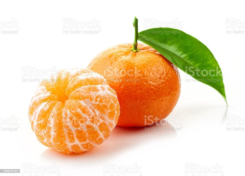 fresh ripe tangerines stock photo