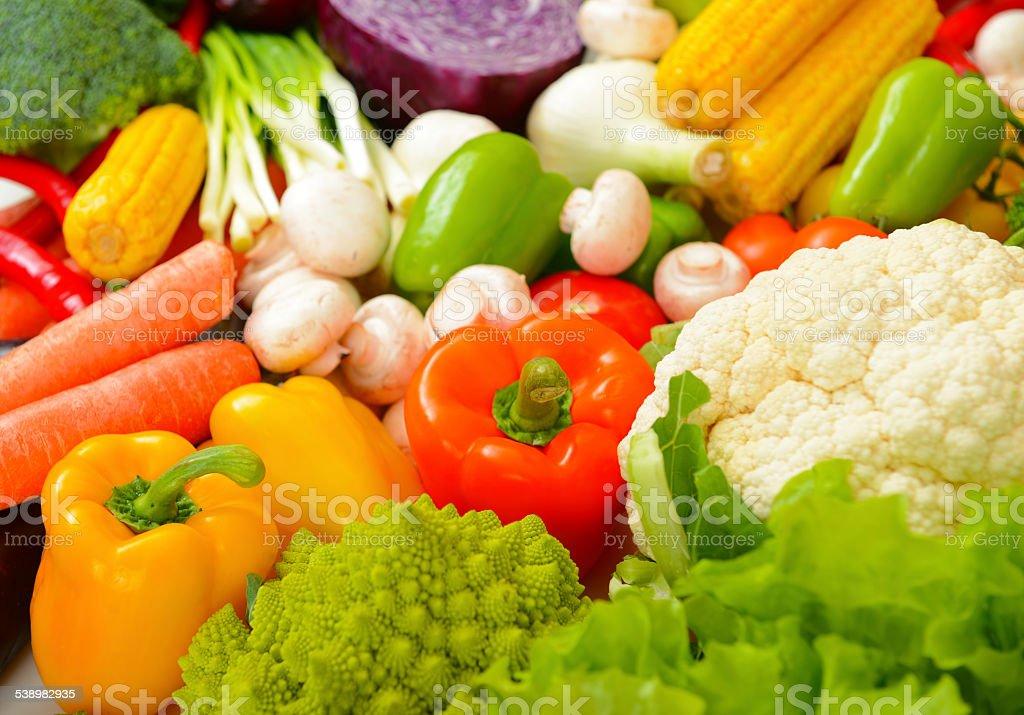 fresh ripe vegetables stock photo