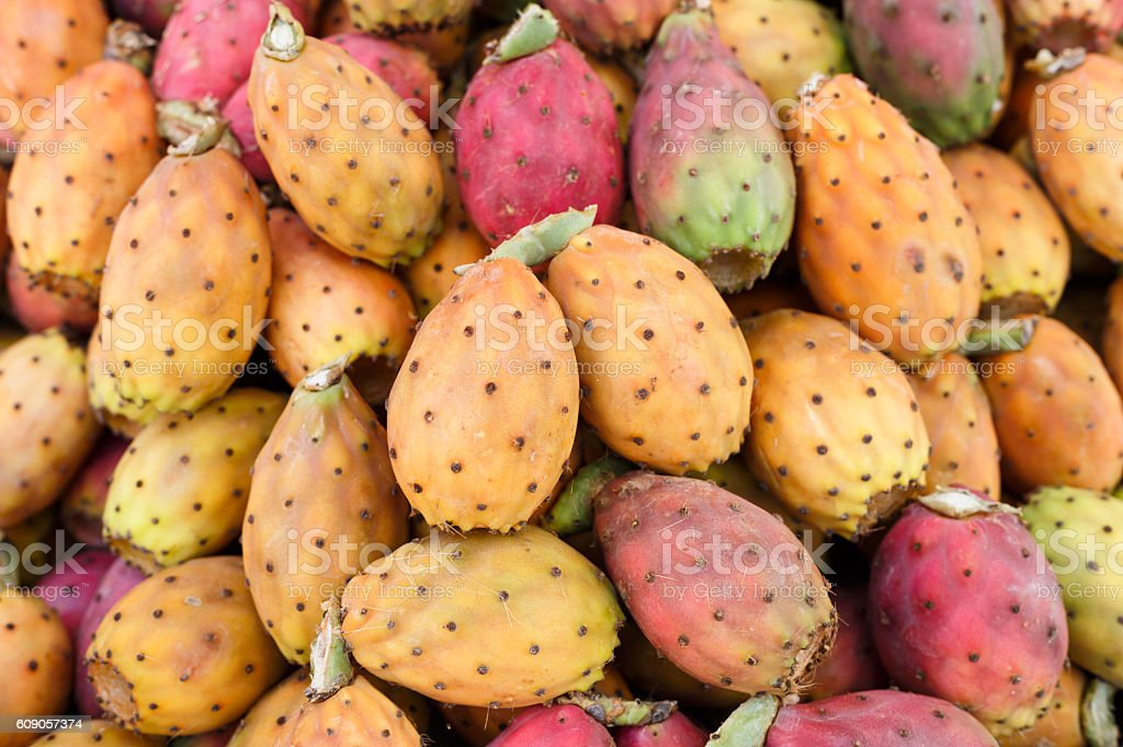 Fresh ripe whole Prickly Pears stock photo